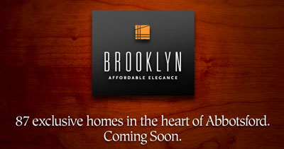 87 exclusive pre-construction apartment homes at The Brooklyn Abbotsford real estate market are coming soon
