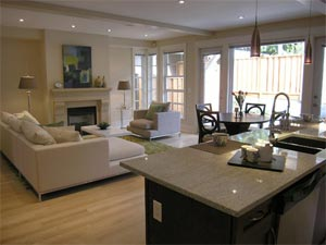 Impressive living spaces with hardwood floors, surround sound, electric fireplaces and halogen pot lighting are standard at the pre-construction North Shore CELO townhouses for sale