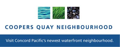 The Vancouver Coopers Quay Neighbourhood - visit Concord Pacific's newest waterfront neighbourhood
