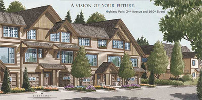 A vision of your future at the Morgan Heights South Surrey real estate properties at Highland Park Townhomes and Family Duplexes