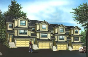 These affordable Maple Ridge townhouses for sale at Maple Creek Mews master planned town home development are stunning