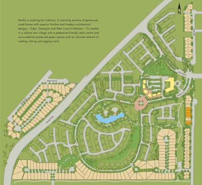 The Terella at Sunstone single family home siteplan by Morningstar real estate developers