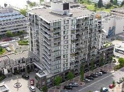 An aerial view of one of the two Times Condominium residences in Lower Lonsdale providing affordable apartment rentals and great re-sale condo opportunities