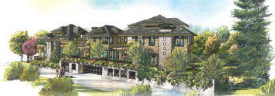 A rendering of the luxury Central Lonsdale West Townhouses for sale at pre-construction pricing in the North Vancouver real estate market featured by Impact Project Marketing